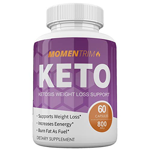 Momentrim Keto - Ketosis Weight Loss Support - Supports Weight Loss - Increases Energy - Burn Fat As Fuel - 60 Capsules - 800MG - 30 Day Supply