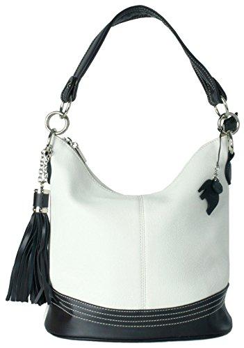 Bhbs Femmes Manipuler Blanc Cartable Sac lxhxp Haut Épaule 34x28x18 Cm Shape Seau Mode rrSAdHwq