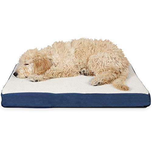 FurHaven Deluxe Orthopedic Pet Bed Mattress for Dogs and Cats, Navy, ()