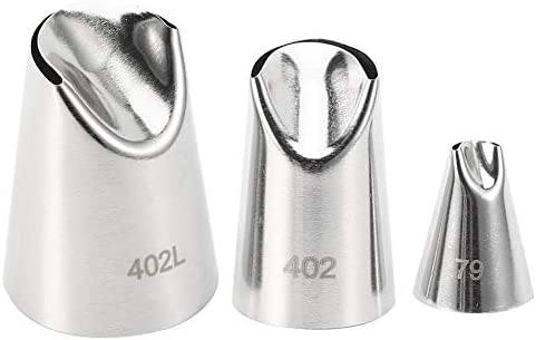 Good Hardness High Strength Easy To Clean Pastry Nozzle Cake Decorating Nozzle Stainless Steel Pastry Nozzles for Kitchens Cake Shops