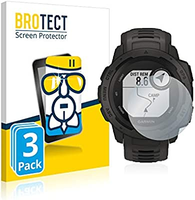 brotect Protector Pantalla Cristal Compatible con Garmin Instinct/Instinct Tactical Edition Protector Pantalla Vidrio (3 Unidades) 9H AirGlass