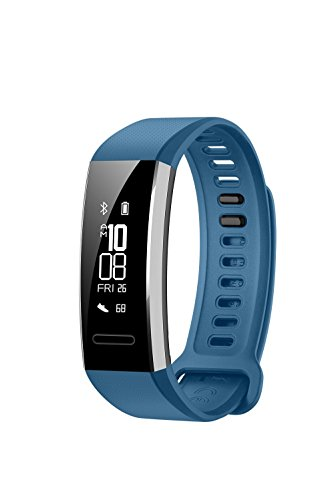 Watch Heart Monitor Rate Pro (Huawei Band 2 Pro All-in-One Activity Tracker Smart Fitness Wristband | GPS | Multi-Sport Mode| Heart Rate | Sleep Monitor | 5ATM Waterproof, Blue (US Warranty))
