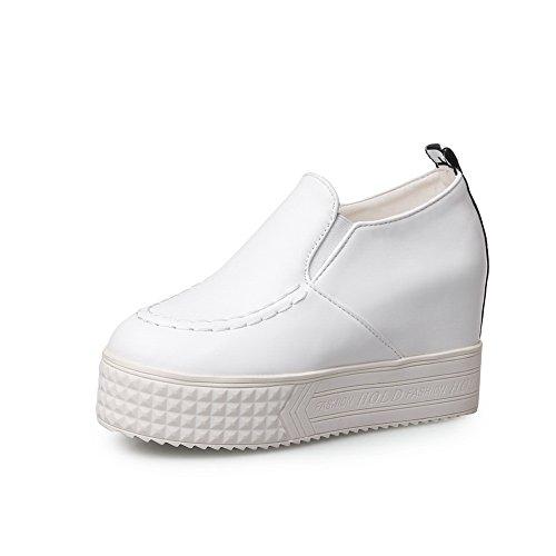 Balamasa Femme Solide Sans Talon Chaussures-chaussures En Cuir Imité, Blanc (blanc), 35