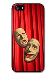 Comedy And Tragedy Masks In A Red Curtain Background Cool Design case for iPhone 5 5S