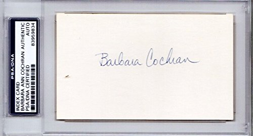 Barbara Cochran Autographed Signed World Cup alpine ski racer 3x5 Inch Index Card - 1972 Gold Medalist - PSA/DNA Authenticity (COA) - PSA Slabbed Holder from Sports Collectibles Online