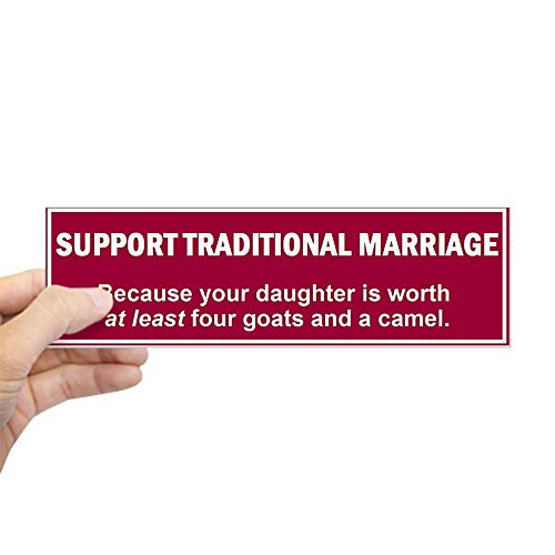 - CafePress Traditional Marriage Bumper Sticker 10