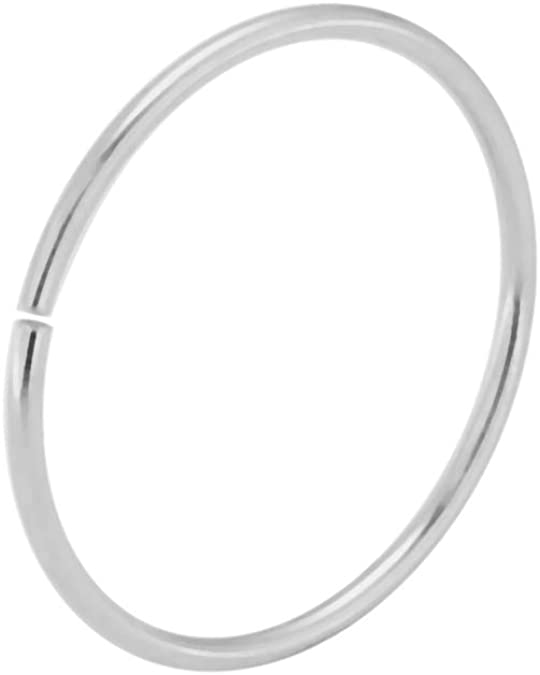 Discreet Gold Nose Ring Nose Hoop Tragus Ring endless nose ring endless nose hoop silver nose stud thin nose ring body jewellery earring