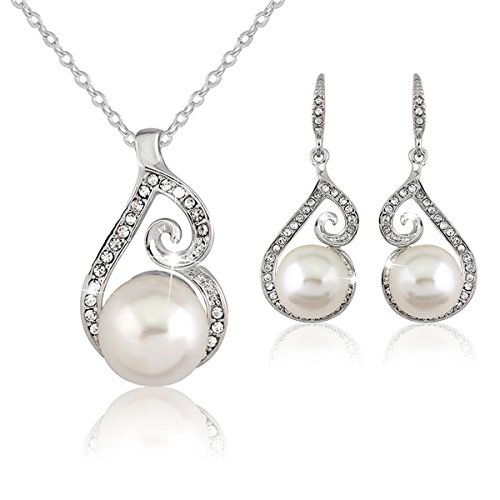 Necklace Earring Sets with Jewelry box for Women (N+E-084) (The Situation Costume)