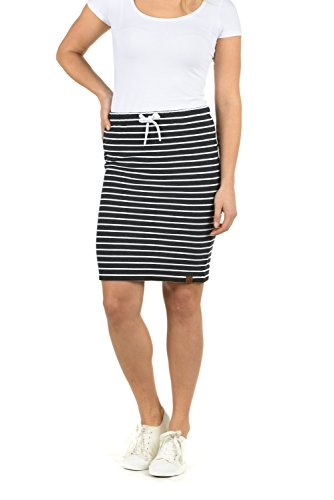 White 8288w Lene Extensible Grey Court Jupe Femme pour Imprim Desires Dark Minijupe Stripes 7vqdCxw