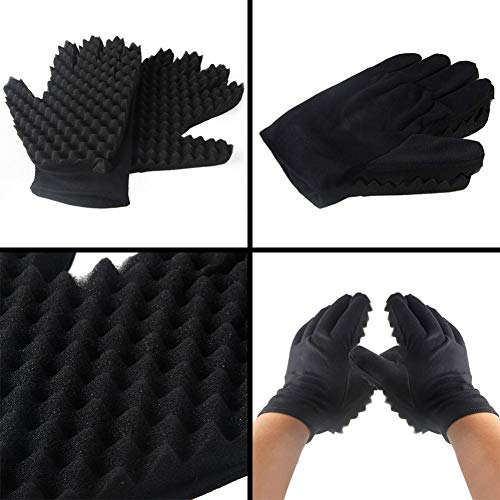 Coohole Curl Hair Sponge Gloves for Barbers Wave Twist Brush Gloves Styling Tool For Curly Hair Styling (Right) by Coohole (Image #7)