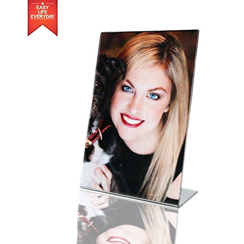 4x6 Acrylic Photo Frame -Sign Holders , Clear Transparent Di