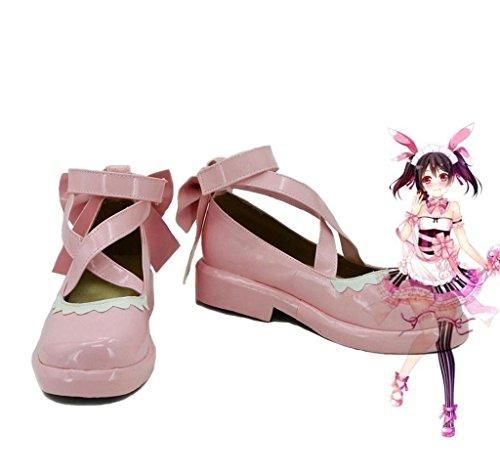 Bromeo LoveLive! Love Love Valentine's Day Maid Live! Yazawa Nico Cosplay Chaussure