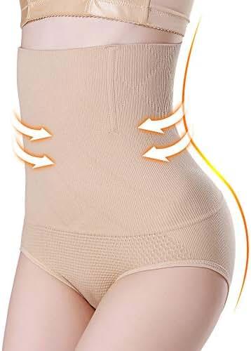 Kuku Valentine's Day Women Body Shaper Butt Lifter Hi-Waist Panty Seamless Waist Trainer Tummy Control Shapewear
