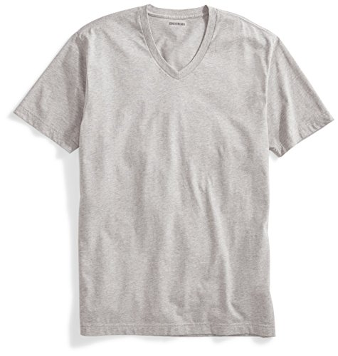 Goodthreads Men's Short-Sleeve V-Neck Cotton T-Shirt, Heather Grey, XX-Large