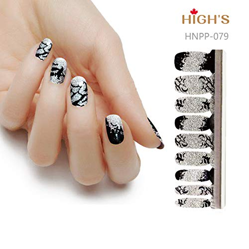 HIGH'S HALLOWEEN DESIGN EXTRE ADHESION Nail Wraps Decals Art Transfer Sticker Collection Manicure DIY Fullnail Polish patch Strips for Wedding, Party, Shopping, Travelling,20pcs (Halloween Mystery)