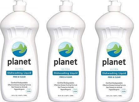 Planet Ultra Dishwashing Liquid, 25 Fluid Ounce Bottles (Pack of 12) (3-(Pack of 12))