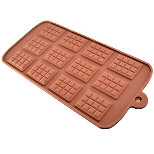 New Chocolate Ice Mold Silicone Pan Tray Candy Cookie Baking Mould Mold Makes 12