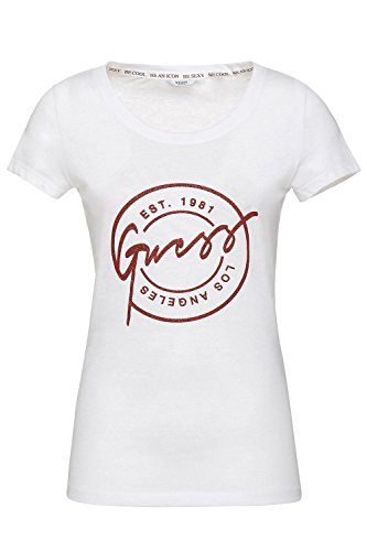 Blanc Shirt Stamp W82i12 Jeans Guess Tee wXZvqBpx