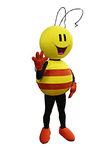 rushopn Yellow and Orange Bee Mascot Costume Insect Mascot Costumes (XL)