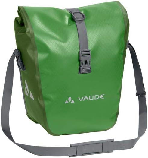 VAUDE Aqua Front –Alforjas delanteras para bicicleta, Juego de 2 bolsas adaptables a la carga e impermeables