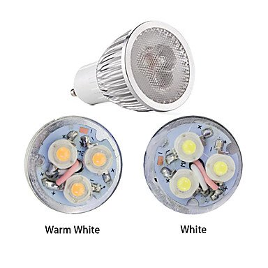 Amazon.com: 3W LED Spotlight GU10 3 High Power LED 260-300 lm Warm White/White Dimmable AC220-240V 10Pcs , 220-240v: Home & Kitchen