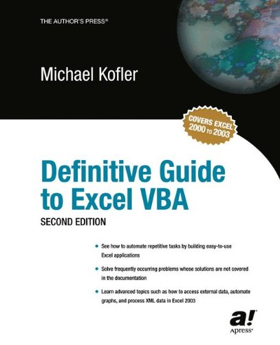 Definitive Guide to Excel VBA, Second Edition