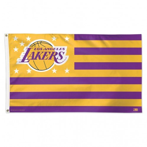 Los Angeles Lakers NBA American Flag 3 x 5 Foot by WinCraft