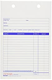 REDIFORM Carbonless Sales Forms for Registers, Triplicate, 5.5 x 8.5, 500 Sets per Box (5558BT)