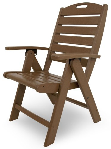 Trex Outdoor Furniture Yacht Club Folding Highback Chair, Tree House - Made in the usa chairs are foldable for easy storage. Trex furniture uses genuine stainless steel hardware for optimal performance and longevity Trex outdoor furniture requires minimal assembly; some models even unfold right out of the box with no need for assembly; items that require assembly often take less than 30 minutes to complete and include basic tools with easy to follow instructions - patio-furniture, patio-chairs, patio - 41rn7Hp%2BqOL -