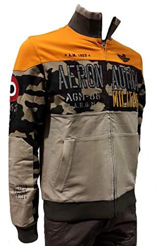 Hombre Polo Militare Chaqueta Fe1323 Pantalones Naranja Camuflaje Camiseta 90579 Sudadera Aeronautica q1BU0