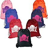 Softball Zipper Backpack Red