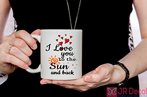 Personalised Ceramic - I love you to the Sun and Back - Coffee Mugs - Valentines Day Gift for her - Tea Cup - Personalised Ceramic Mugs - Funny Love Quote Ask a question USD 11.69