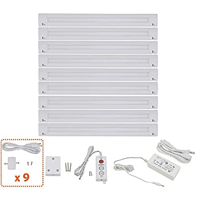 Lightkiwi B1551 Lilium 12 Inch Cool White Modular LED Under Cabinet Lighting - Pro Kit (9 Panel)