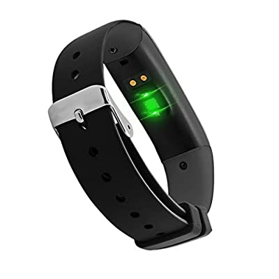 Smart Band Watchband Health Fitness Tracker with Heart Rate Monitor and Blood Pressure Sports Smart Wristband Pedometer Smart Bracelet Bluetooth Smart Watch For IOS Android Phone (P1-Black)