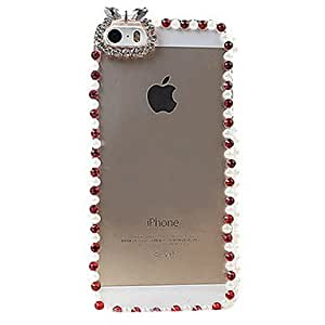GJYCrystal Surface Covered Frame for iPhone 5/5S(Assorted Color) , White