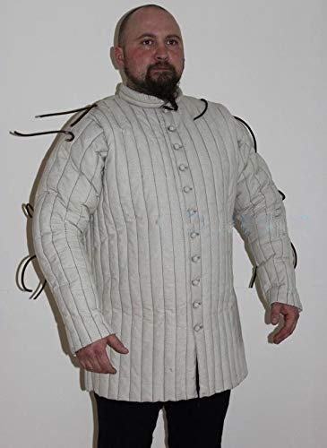 QUALITYMUSICSHOP Costume Medieval Theater Role Play Coat Man Gambeson Jacket Armor -