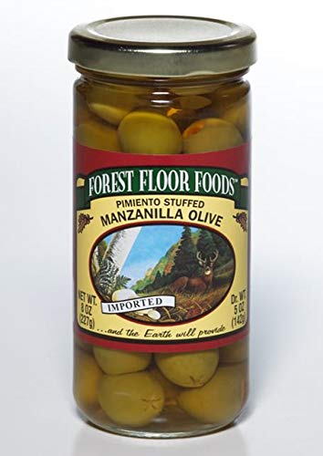 Forest Floor Foods Pimiento Stuffed Manzanilla Olive, 8 Ounce