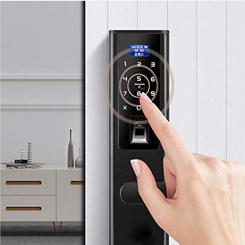 BLWX - Smart Lock-zinc Alloy-wearing And Scratch-resistant Password Lock Fingerprint Lock Home Security Door Electronic Lock Fingerprint Password Lock Remote Door Lock Waterproof - Size: 37X7.5cm Door by BLWX-home renovation. Door lock (Image #5)