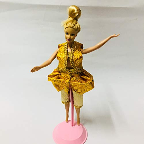 Sittikatechai Thai Music Folk Drama Dress up Costum Gold Outfit for Barbie Doll Clothes