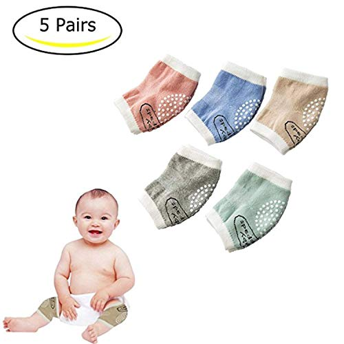 Baby Knee Pads Cotton Baby Crawling Knee Pads for Toddler(5 Pairs)