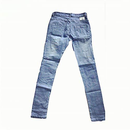 Stretch Strappati Blu Faith Da Skinny Jeans Sfilacciati Wings Denim Fit Uomo nZww14pxA