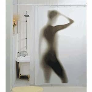 Gift House International - Cortina de ducha con diseño de silueta
