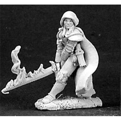 Reaper Miniatures Justine, Undead Hunter #03149 Dark Heaven Unpainted Metal ()