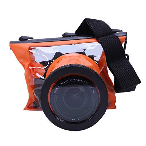 (SODIAL SLR Camera Waterproof Case 5D3 for 6D 5D2 700D for Underwater Camera Housing Case Diving Waterproof Dry Bag-Orange)