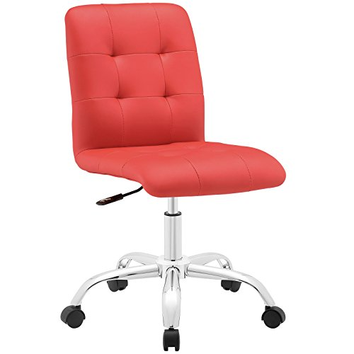 Modway Prim Mid Back Office Chair, Red