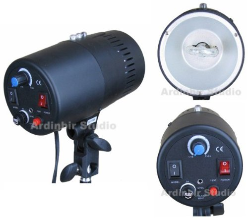 Ardinbir Studio Photo 160w 5600K DayLight Video Slave Master Strobe Monolight Flash Light Head Kit with Dimmer Control by Ardinbir Studio