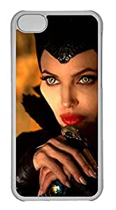 iPhone 5C Case, iPhone 5C Cases - Crystal Clear Scratch-Resistant Case Cover for iPhone 5C Maleficent Perfect Fit Clear Hard Back Case Bumper for iPhone 5C