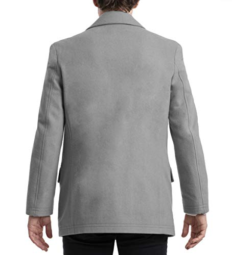 Chaps Men's Regular All-American Authentic Style Peacoat, Light Grey, 44R