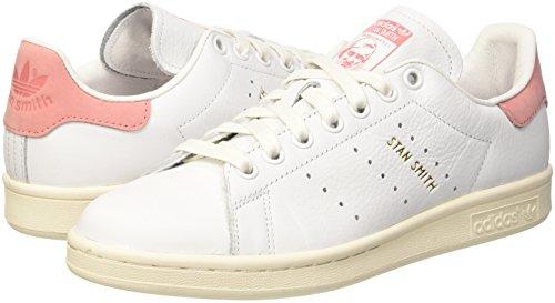 adidas Stan Smith, Zapatillas de Deporte, Hombre Blanco (Ftwwht/Ftwwht/Raypnk)
