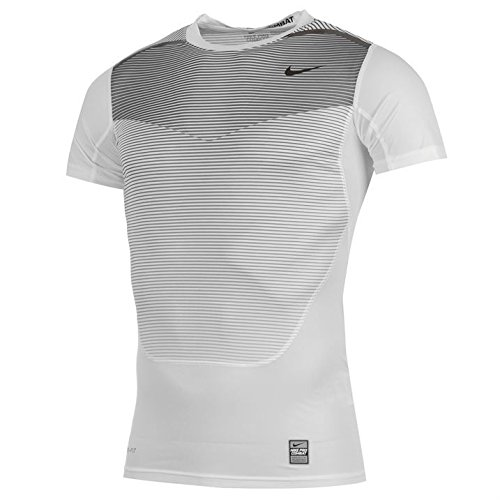 Nike Men's Pro Combat Hypercool Compression Speed Shirt White Small (Nike Pro Combat Shirts Hypercool)